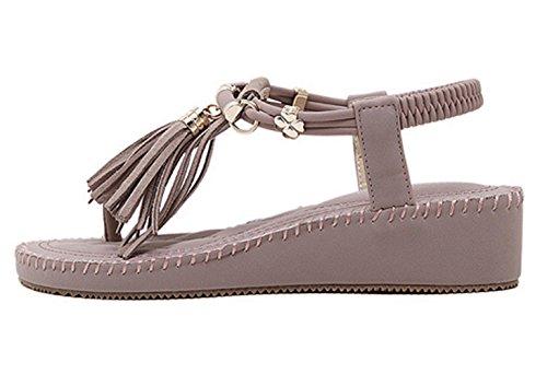 Claro Zapatos Morado Insun Tacón De Mujer wxBX0qU6