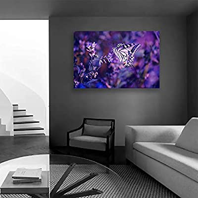 Canvas Wall Art for Living Room,Bedroom Home Artwork Paintings Romantic Lavender Ready to Hang - 12x18 inches