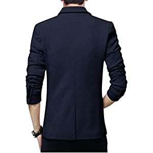 BREGEO Fashion Black Slim Fit Blazer