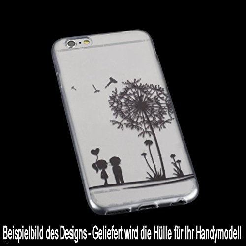Ultra Slim Silikon TPU Handy Hülle - Transparent mit Love Tattoo Design - für - Apple iPhone X - Case Cover