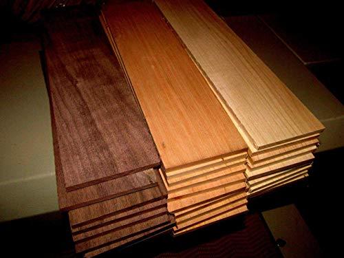 (Woodworking Lumber) MULTIPAK (10) Each Thin, KILN Dried, Sanded Maple, Walnut, Cherry 12 X 3 X 3/8