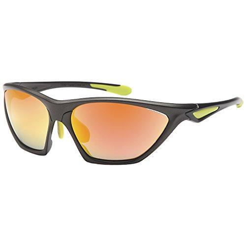 Siren Sports Sunglasses Charger UV400 Choose Polarized Normal Lens (POLARIZED Orange Mirror Lens Grey (New Silk Road Model)