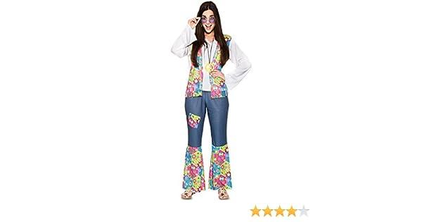 Fyasa 706408-t04 Hippie Mujer Disfraz, Tamaño grande: Amazon.es ...