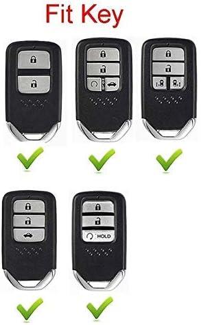 2 3 4 5 Buttons 3D Bling Smart keyless Entry Remote Key Fob case Cover for Honda Jade HR-V CR-V Accord Crider Vezel Civic Greiz Spirior Elysion Fit City Crosstour Keychain Pink