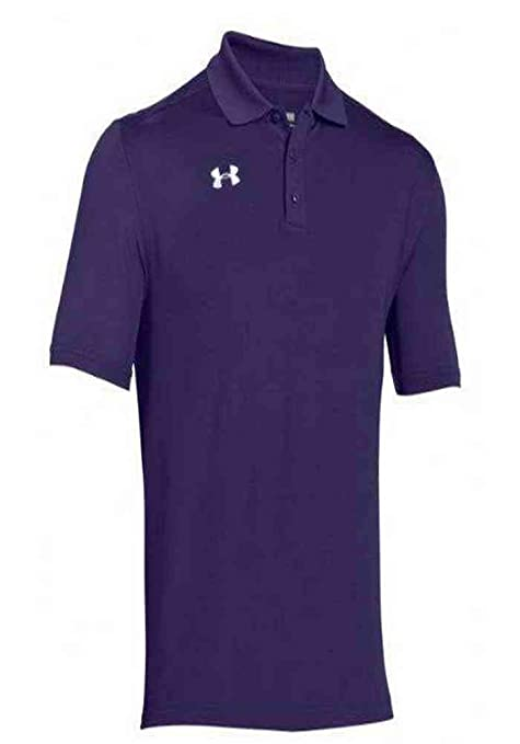 Under Armour Team Armour Mens Golf Polo (Purple, X-Large): Amazon ...