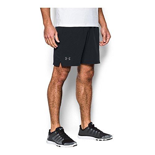 2 Under Mens Woven Shorts - Under Armour Men's Cage Shorts,Black (001)/Graphite, Medium