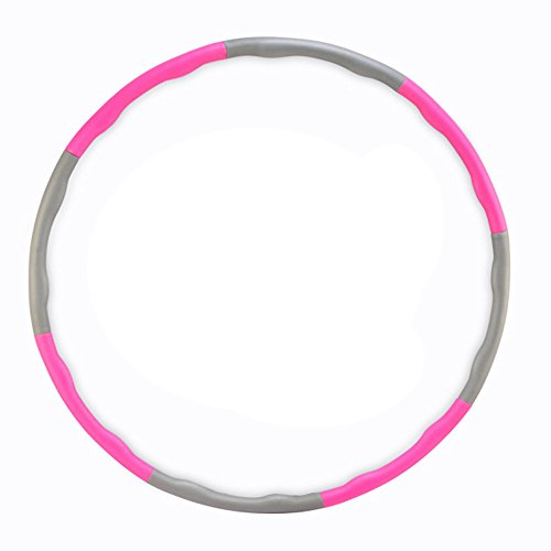Paladineer Adjustable Hula Hoop Foam Padded for Exercise Fitness Sport Pink