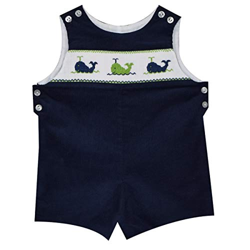 - Whales Smocked Boys Shortall