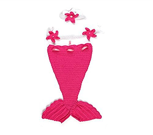 Dealzip Inc Fashion Unisex Newborn Boy Girls Crochet Knitted Baby Outfits Costume Set Photography Photo Pros-Hot Pink (Power Girl Costume Hot)