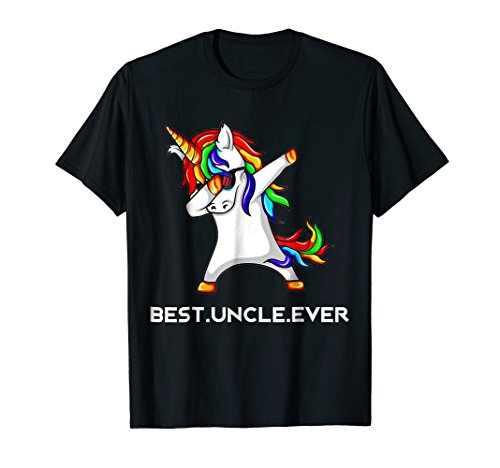 (Funny Best Uncle Ever Dabbing Unicorn T Shirt Gift)
