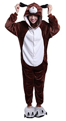 MizHome Unisex Adult Performance Clothing Piece Pajamas Anime Costume Dog L - Delivery Man Dog Costume