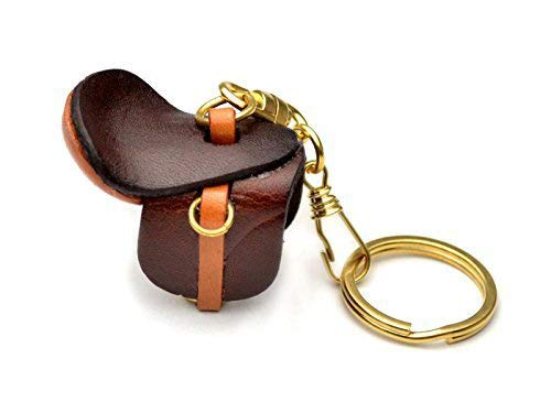 Saddle Horse/Equine Goods 3D Leather Keychain(L) VANCA CRAFT-Collectible Keyring Charm Pendant Made in Japan