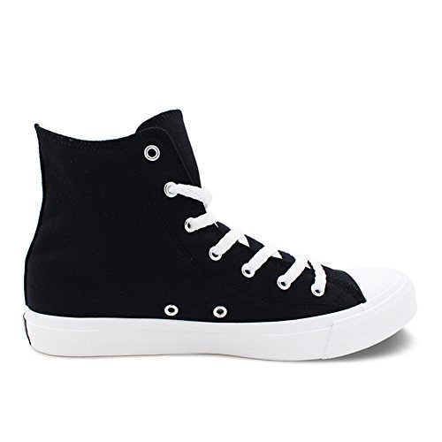 Flats Skull Halloween U and Size Women Canvas for Lace Print up Unisex Honeystore Black High Plus Men Shoes Sneakers Top tPvWHq