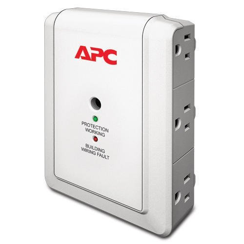 APC 6-Outlet Wall Surge Protector 1080 Joules, SurgeArrest Essential (P6W) (Surge Outlet 10 Suppressor)