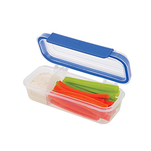 Price comparison product image SnapLock by Progressive Snack Box Container - Blue,  SNL-1020B Easy-To-Open,  Leak-Proof Silicone Seal,  Snap-Off Lid,  Stackable,  BPA FREE