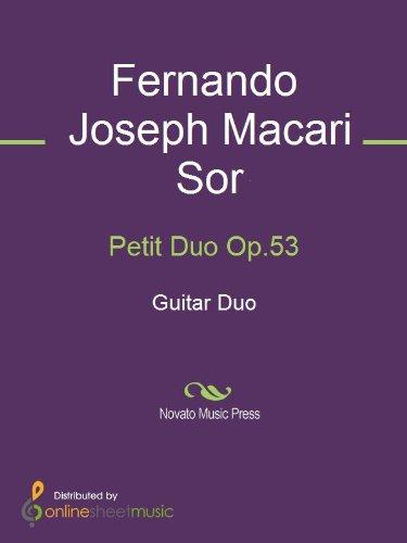 Petit Duo Op.53 - Score Petits Duos