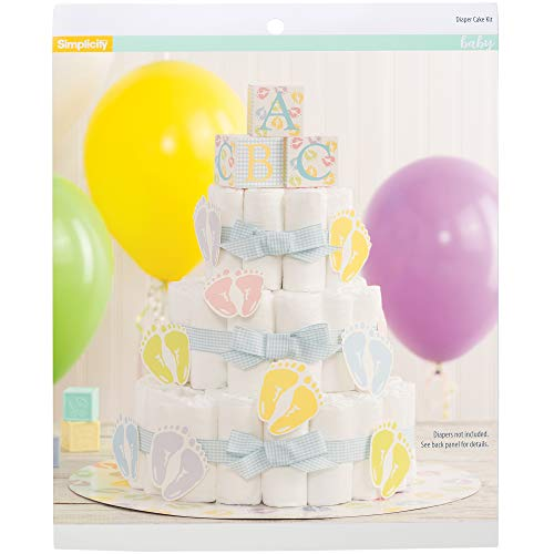 Simplicity Baby Shower Diaper Cake Kit, 27pc from Simplicity