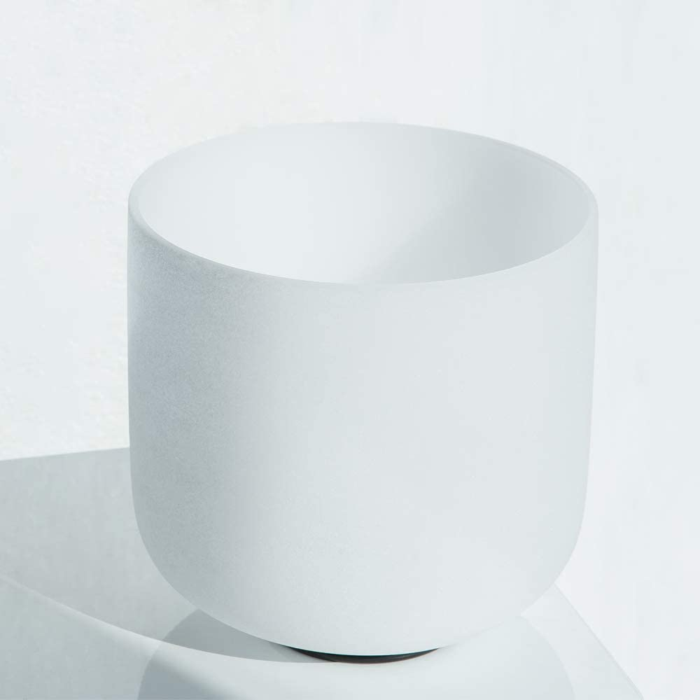 7 Note E Solar plexus Chakra Frosted Quartz Crystal Singing Bowl Yoga