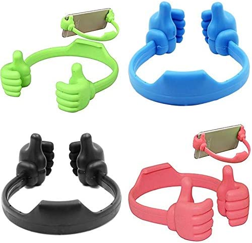 Vaskey 1 Pcs Creative Thumb Mobile Phone Holder Flexible Cute Mobile Phone Stand Desk Table Stand Display Holder