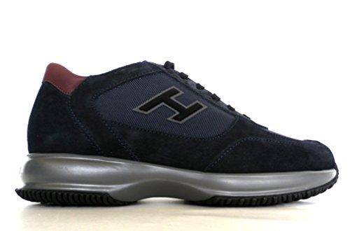 Hogan Herren Sneaker Blau Blu + Bordeaux