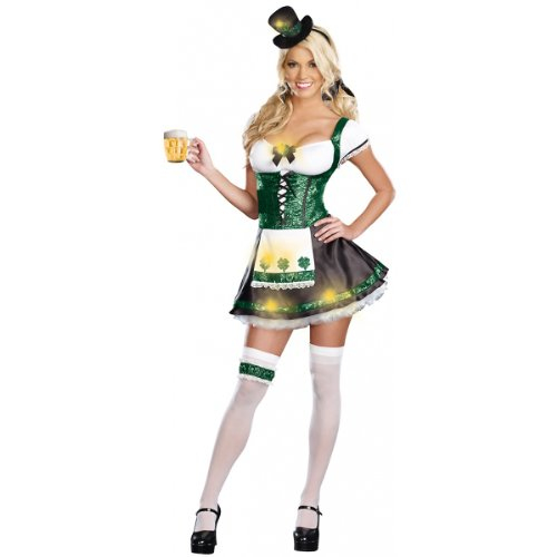 Sexy Lady Luck Costumes (Dreamgirl Women's Lady Luck Costume, Green, Extra Large)