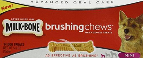 Milk Bone Brushing Chews Daily Dental Treats, Mini 5.5 oz Treats (Pack of 3)