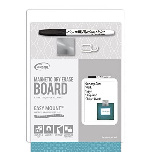 Board Dudes Magnetic Dry Erase Board Plastic Frame 8.5x11 for sale