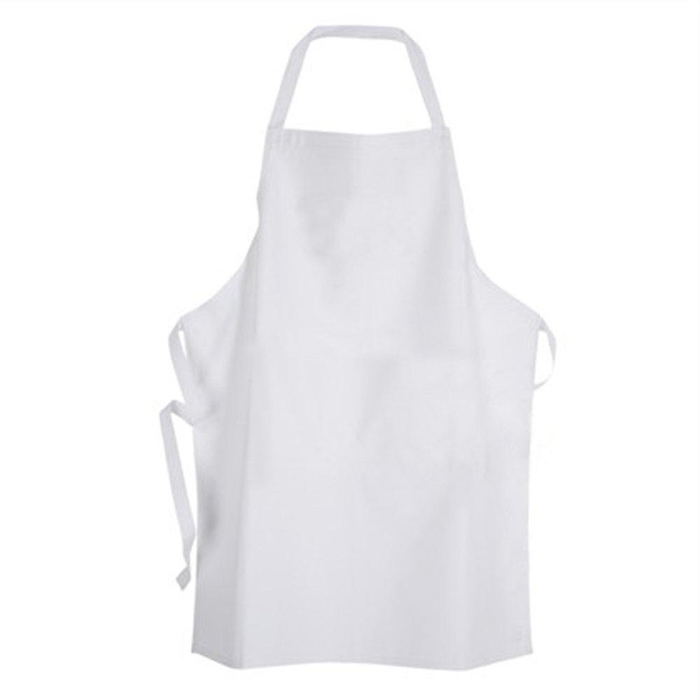 White apron hours - Plain White Polyester Apron Pre School Size Approx 30cmx50cm Amazon Co Uk Kitchen Home
