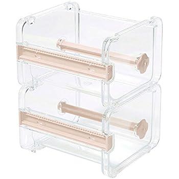 Desktop Tape Dispenser, Washi Tape Cutter,Washi Tape Cutting Dispenser,Roll Tape Holder for Washi Masking Tape DIY Stickers,Set of 2