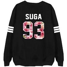 Partiss Unisex KPOP BTS Bangtan Boys Girls Long Sleeve Pullover Hoodie Sweatershirt