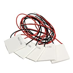 Package of 5 TEC1-12706 Thermoelectric Cooler by Ace Seller