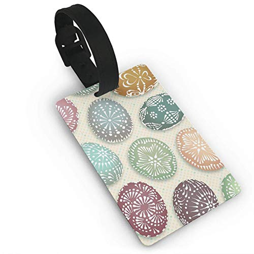 (Luggage Tags Holders for Travel Luggage,Luggage Tags for Suitcases, Lithuanian Easter Eggs Luggage Tags Travel ID Bag Tag for Suitcase Business Card Holder 1 Piece)