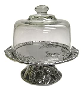 Arthur Court Butterfly 8-Inch Footed Plate with Glass Dome