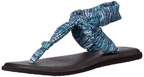 Yoga Sanuk Flop Black Sling UK Palms Women's Space Hazy Navy 4 Dye Ella Flip 6qq5r