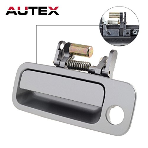 AUTEX 1pcs Silver Exterior Front Left Driver Side Replacement Door Handle for 1997 1998 1999 2000 2001 Toyota Camry (Left Toyota Door Camry Outside)