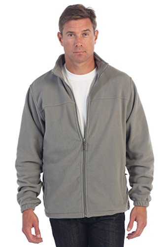 Grey Polar Fleece (Gioberti Mens Full Zip Polar Fleece Jacket, Gray, XX-Large)