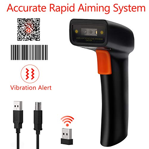 Tera Barcode Scanner Wireless and Wired 1D 2D QR Digital Printed Bar Codes Reader Portable Handheld Barcode Scanner Compact with Magic Diamond Accurate Rapid Aiming System and Vibration Alert by Tera (Image #8)