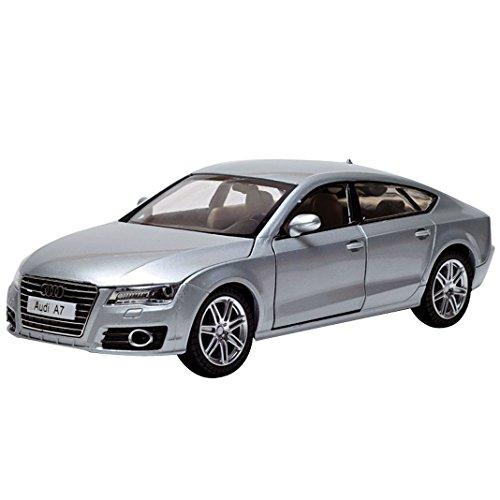 Car Toys 1:24 Silver Audi A7 Model Car Silver Diecast Model Car