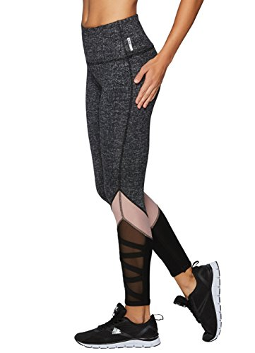 RBX Active Women's Printed Workout Leggings Black L