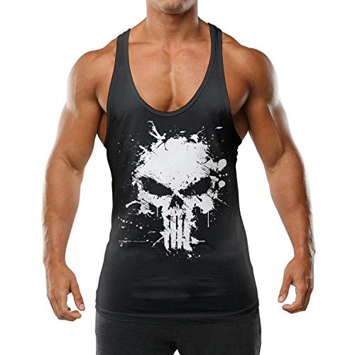 Men's Sports Essential Muscle Tank Top Movie Poster Art Workout Gym Fitness Bodybuilding Funny T Shirts Stringers