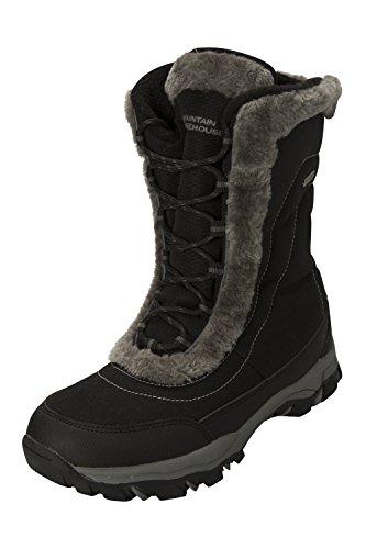 e Donna Nero Mountain per Neve Warehouse e Caldi Impermeabili Doposci da Ohio Stivali Invernali Ideali Rx8qwpS
