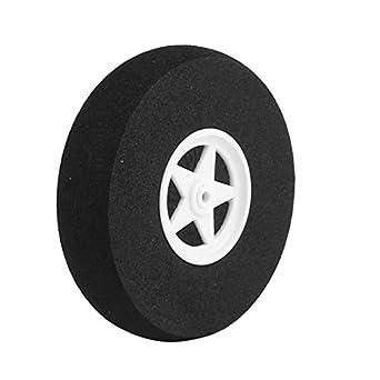 eDealMax Modelo Negro Plano de goma espuma DE 75 mm de la rueda 18 mm x