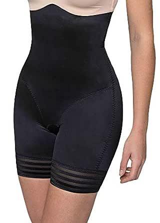 LaSculpte Women's Shaping High Waist Shorts, Black, 10