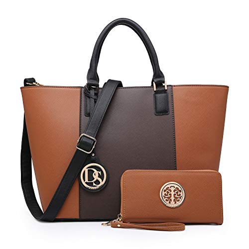MMK Collection Newest Designer Fashion Women Satchel/Tote handbags with Free Matching Wallet(6417)~Designer Purse with Wristlet Wallet ()