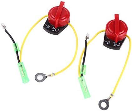 2pcs motor de la motocicleta Interruptor de parada en el interruptor Motor de la motocicleta Stop Kill interruptor de cambio de interruptor
