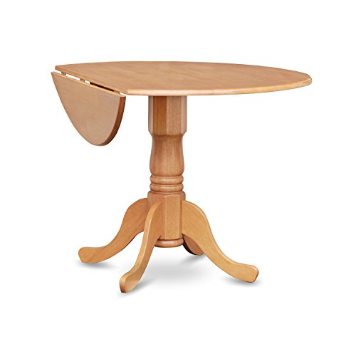 Round Oak Kitchen Table And Chairs: East West Furniture DLIN5-OAK-W 5-Piece Round Kitchen