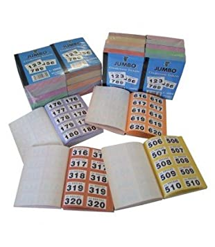 book of 1000 raffle cloakroom tickets coloured borders unique