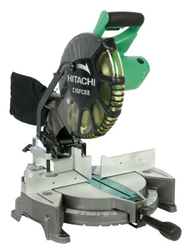 Hitachi C10FCE2 15-Amp 10-inch Single Bevel Compound Miter Saw (Discontinued by Manufacturer) (Best Affordable Miter Saw)