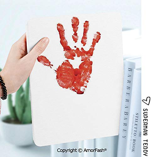 Ultra Lightweight Standing Cover for Galaxy Tab A 8.0 Inch SM-T380/T385 2017,Horror Handprint Like Wanting Help Halloween Horror Scary Spooky Flowing Blood Themed Print]()