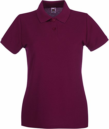 Corta Rosso Polo Loom Donna Of Borgogna The Fruit Manica nwaq04XxF